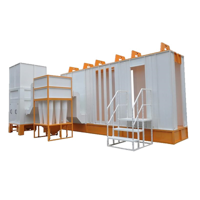 Multi Cyclone Powder Coating Booth Fast Color Change