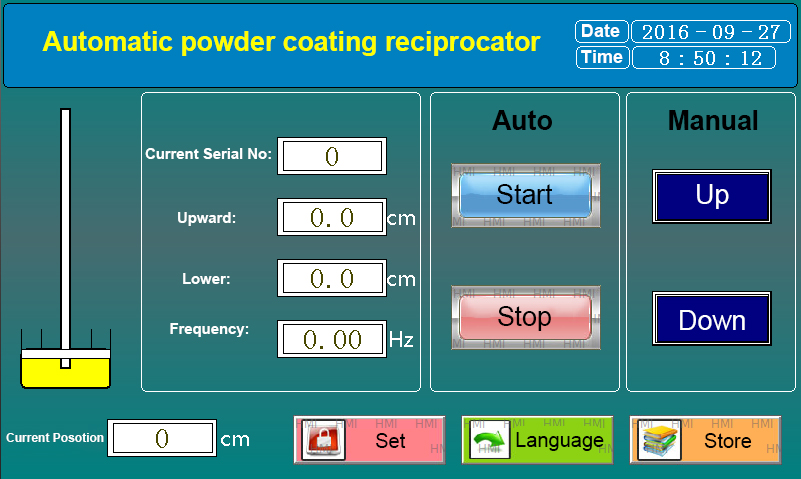 PLC Controlled Powder Coating Reciprocator, Precise & Smooth Movement