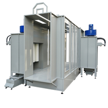 Tunnel Type Automatic Powder Coating Booth for Single Color